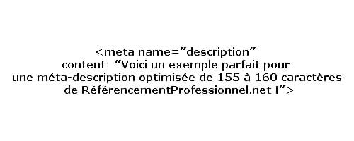 Exemple de méta-description